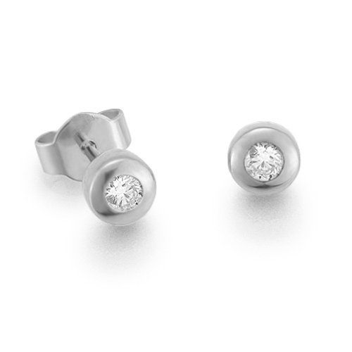 Diamantohrstecker 0.15ct TW/VS I 14kt WG