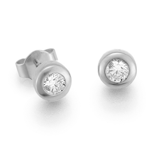 Diamantohrstecker 0.20ct TW/VS I 14kt WG