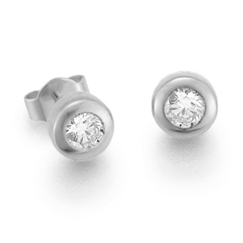 Diamantohrstecker 0.30ct TW/VS I 14kt WG