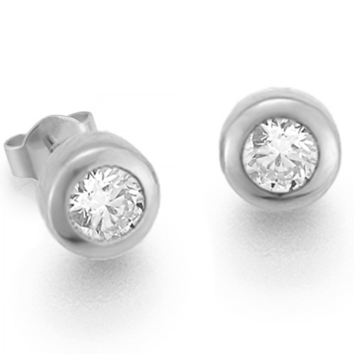 Diamantohrstecker 0.50ct TW/VS I 14kt WG