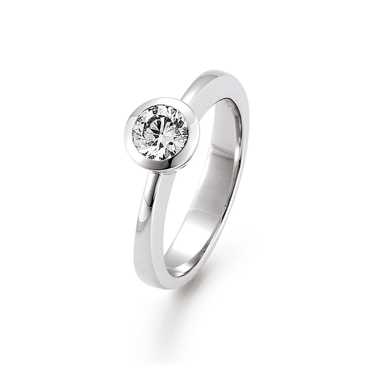 Diamantring 0.25ct TW/VS I 14kt WG